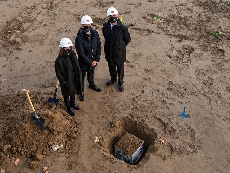 Acto de colocación 1ª piedra - Diciembre 2020 - Edificio Flumen